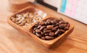 Cafe Blancoさん焙煎後のコーヒー豆