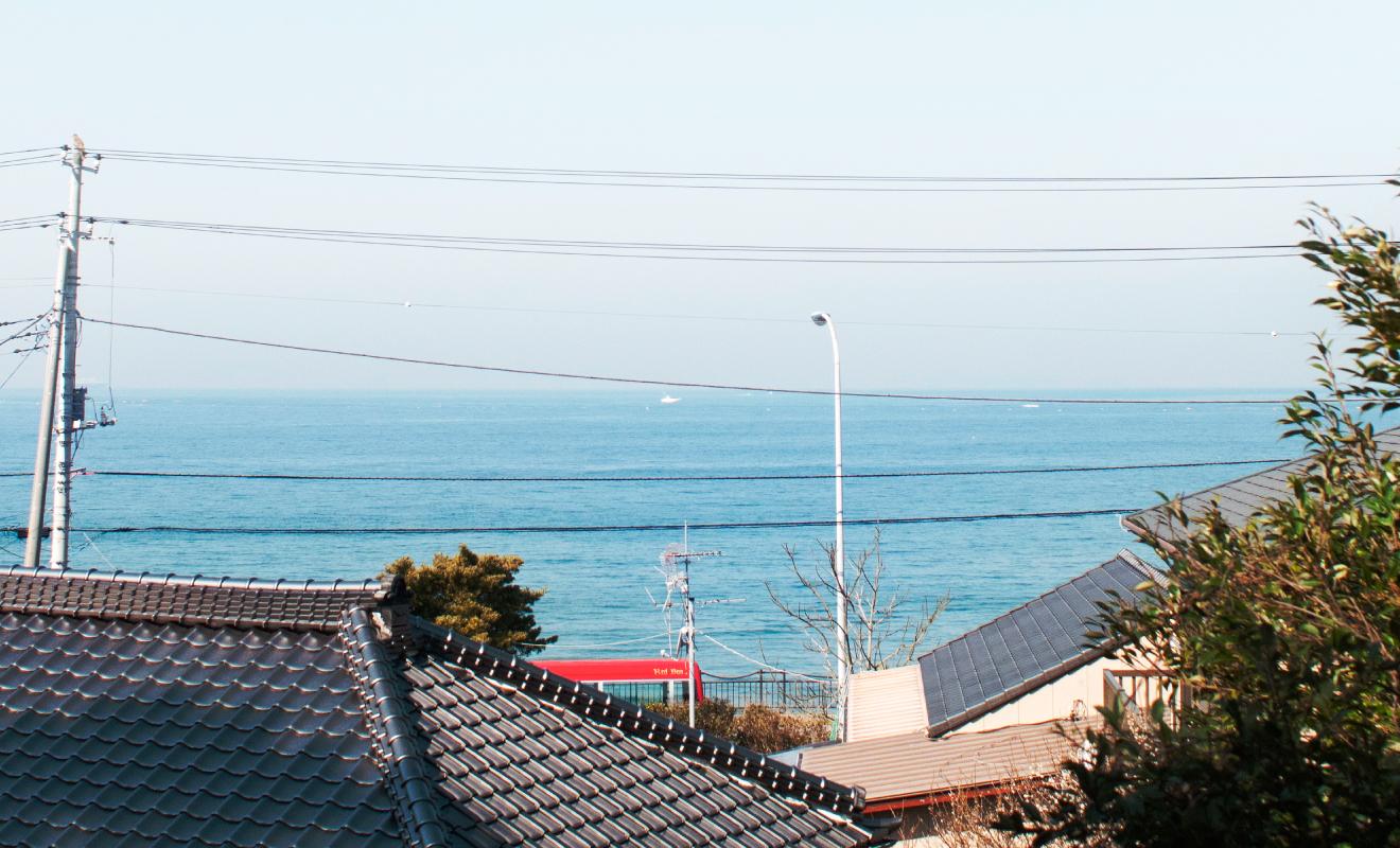 デッキからみえる海