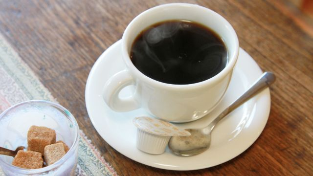 Cafe海遊魚さん 滝の不動尊の湧き水で入れたコーヒ