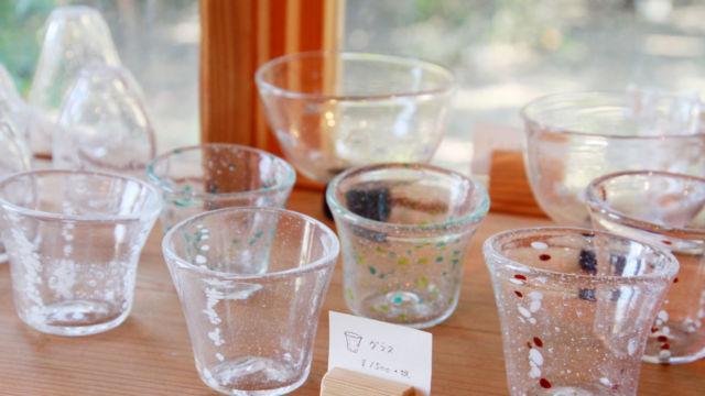 Cafe&ガラス工房で販売しているグラス