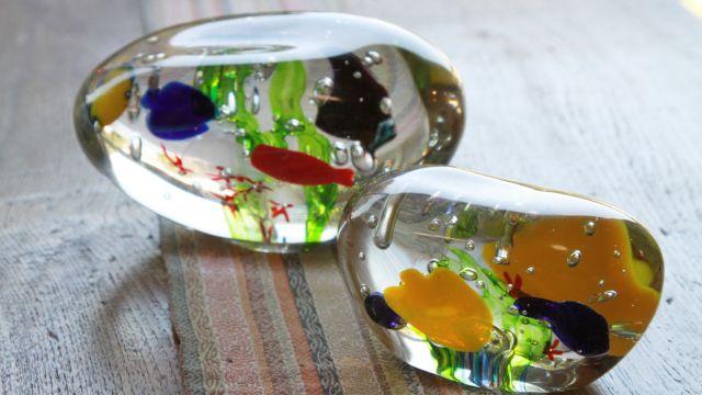 Cafe&ガラス工房 ガラスの置物