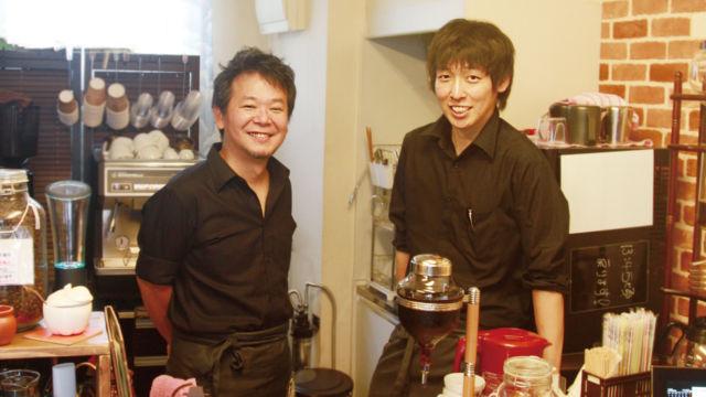もるげん珈琲の鵜野 靖史さま、菅泉 章良さま